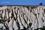 One of World Nature Wonder, Spectacular wall of rock mountain in Cappadocia, Turkey